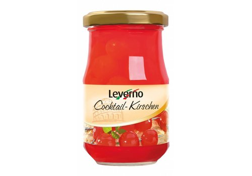 Leverno Cocktail Cherries, 225g