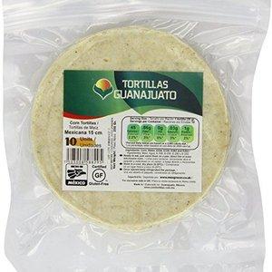 Guanajuato Tortillas White Corn Tortillas 15cm, 10pcs