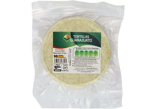 Guanajuato Tortillas White Corn Tortillas 15cm, 10st