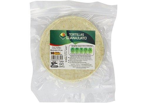 Guanajuato Tortillas White Corn Tortillas 15cm, 10st