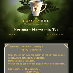 Da Costa A.R.T. Moringa Marva Mix Tea, 25g