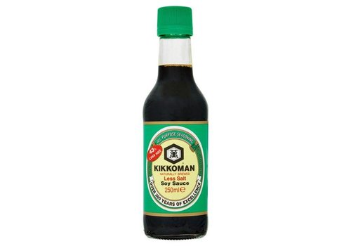 Kikkoman Soy Sauce Less Salt, 250ml