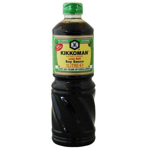 Kikkoman Less Salt Soy Sauce, 1L