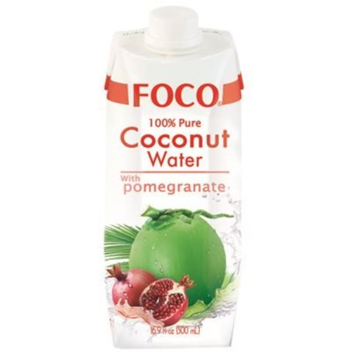 Foco Coconut Water with Pomegranate, 500ml