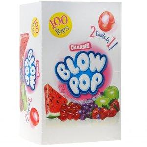 Assorted Blow Pops Box, 100 stuks