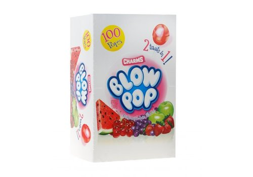 Assorted Blow Pops Box, 100pc