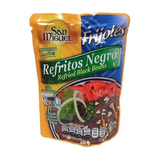San Miguel Refried Black Beans, 430g