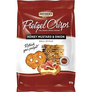 Snyder's Pretzel Crisps Honey Mustard Onion, 85g