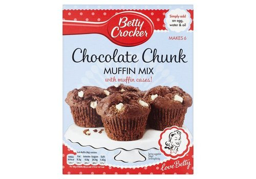 Betty Crocker Chocolate Chunk Muffin Mix, 335g