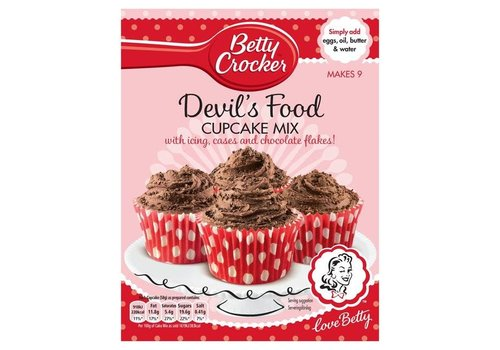 Betty Crocker Betty Crocker Devils Food Cupcake Mix, 277g