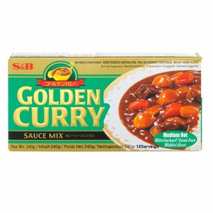 S&B Golden Cury Medium Hot, 220g