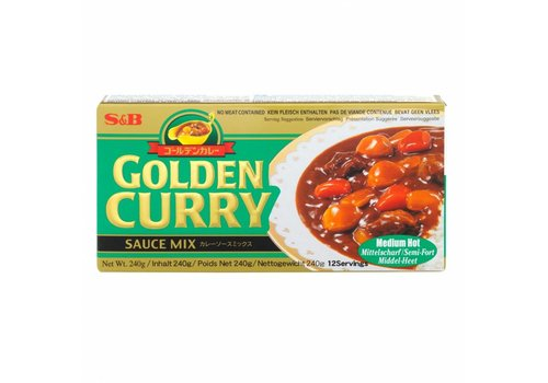 S&B Golden Cury Medium Hot, 240g