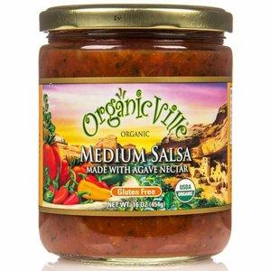 Organic Ville Medium Salsa Agave Nectar, 454g