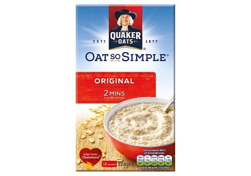 Quaker Oat So Simple Original, 324g