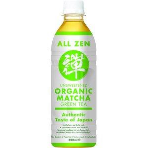 All Zen Organic Unsweetened Matcha Green Tea, 500ml