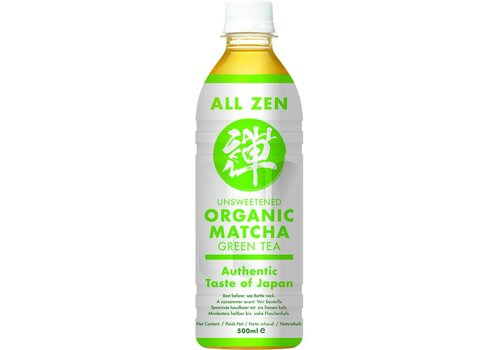 All Zen Organic Unsweetened Matcha Green Tea, 500ml