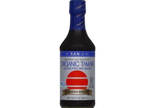 San-J Organic Tamari Reduced Sodium Soy Sauce, 592ml