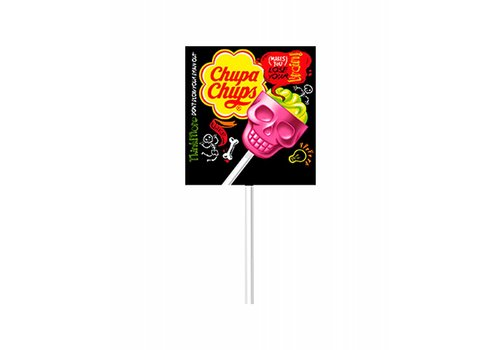 Chupa Chups 3D Skull Strawberry Lime, 15g