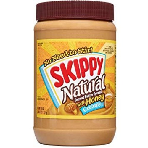 Skippy Creamy Honey Natural Peanut Butter, 425g
