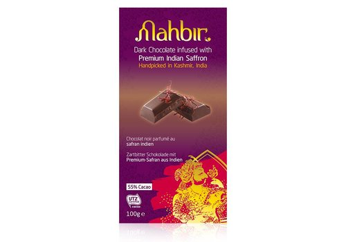 Mahbir Dark Chocolate with Saffron, 100g