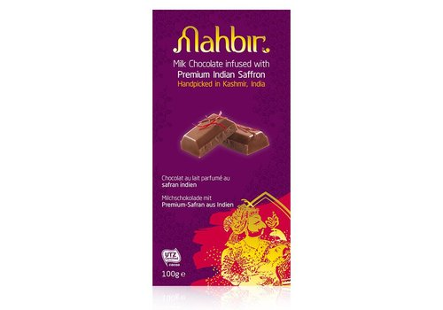Mahbir Milk Chocolate With Saffron, 100g