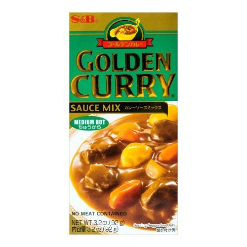 S&B Golden Curry Medium Hot, 92g