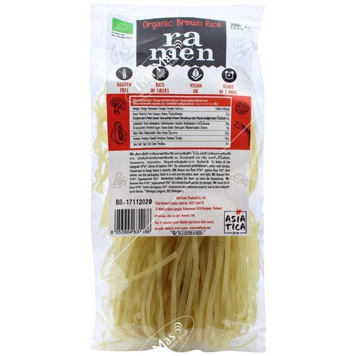 Asiatica Organic Brown Rice Ramen, 200g