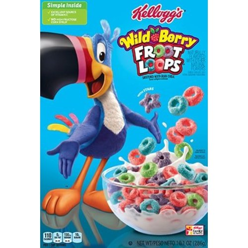 Kellogg's Wild Berry Froot Loops, 286g