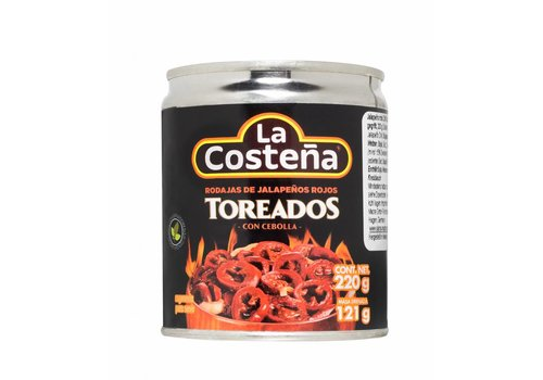 La Costena Red Jalapeno Toreados, 220g