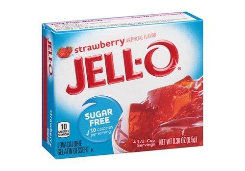 Jello Strawberry Sugar Free, 8g