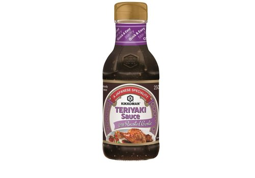 Kikkoman Teriyaki Sauce with Roasted Garlic, 250ml