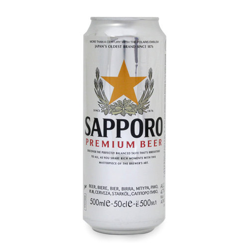 Sapporro Beer, 500ml