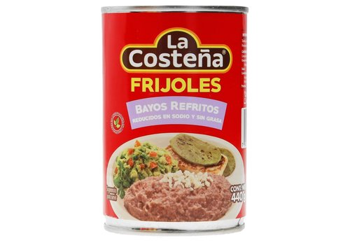 La Costena Refried Pinto Beans Low Sodium, 440g