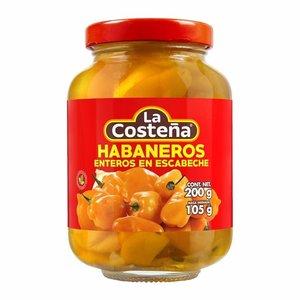La Costena Whole Habanero peppers, 200 g