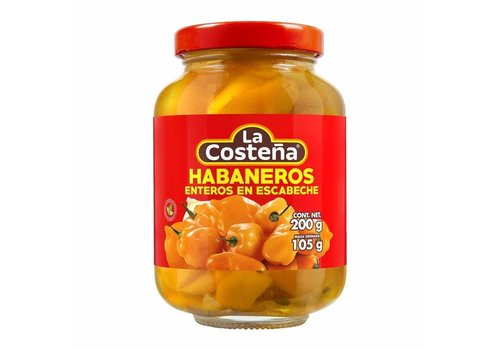 La Costena Whole Habanero Peppers, 200g