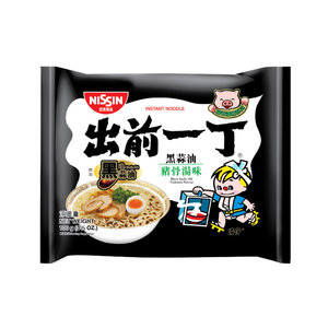 Nissin Black Garlic Oil Tonkatsu, 100g