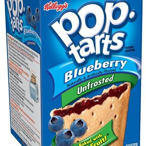 Kellogg's Pop Tarts Unfrosted Blueberry, 397g