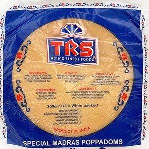 TRS Madras Pappadums, 200g