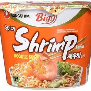 Nongshim Spicy Shrimp Noodle Soup Bowl, 115g