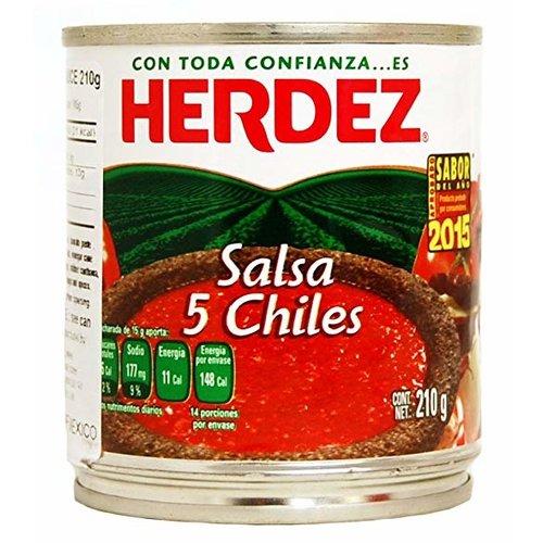 Herdez Salsa 5 Chiles, 210g