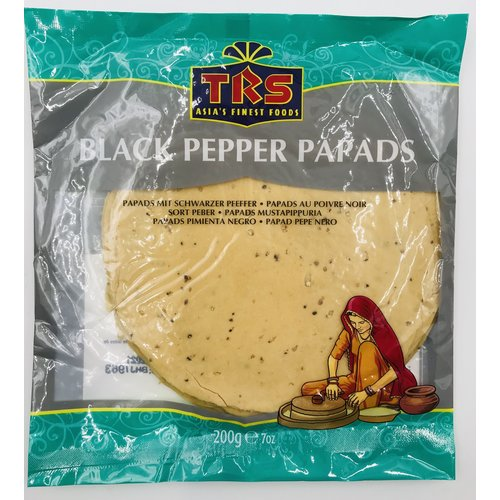 TRS Black Pepper Papads, 200g