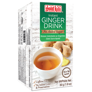 Goldkili Instant Ginger Drink (No Sugar), 10x5g