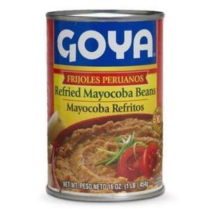 Goya Refried Mayocoba Beans (vegan), 454g