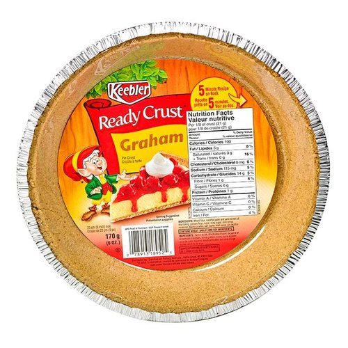 Keebler Graham Pie Crust, 170g