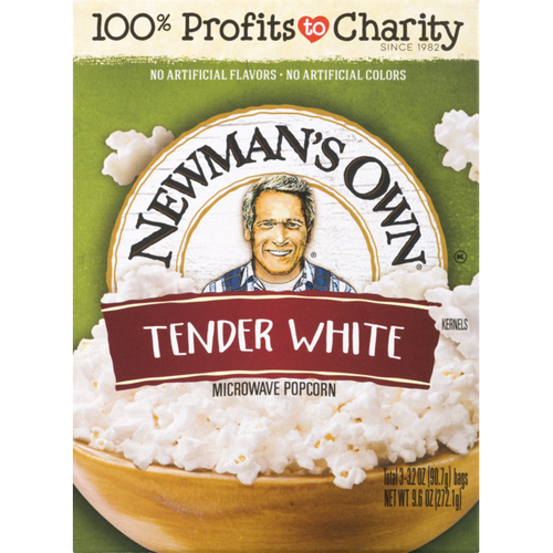 Newman's Own Tender White Microwave Popcorn, 272g