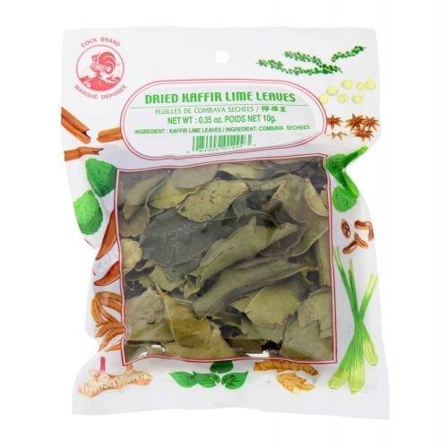 Cock Brand Dried Kaffir Lime Leaves, 10g