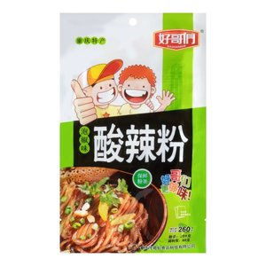 Haogemen Hot & Sour Noodles Pickled Chilli Flavor, 260g