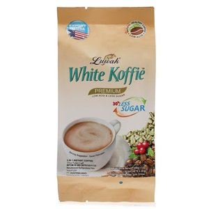 Luwak White Coffee Less Sugar, 200g