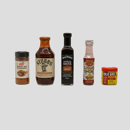 BBQ Sauzen en kruiden.