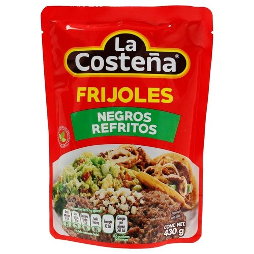 La Costena Frijoles Negros Refritos, 430g